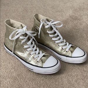 Metallic Gold Converse